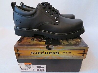 edb69841ff4 NEW MENS SKECHERS Tom Cats Leather Oxford Shoes Style 6618 Black ...