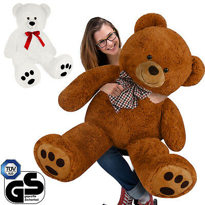 Teddy Bear XXL 150cm Large Cosy Brown White Soft Toy Kids Snuggle Christmas Gift