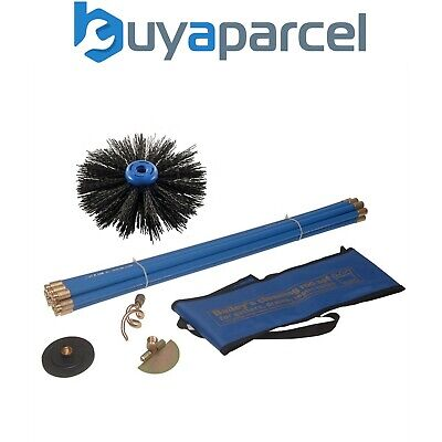 Bailey 5431 Universal Drain Rod & Chimney Sweeping Set w/ Rods and Sweep Brush