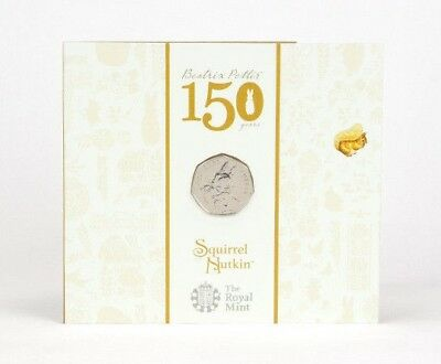 2016 UK Squirrel Nutkin 50p Royal Mint BU Pack [Ref 664Y]