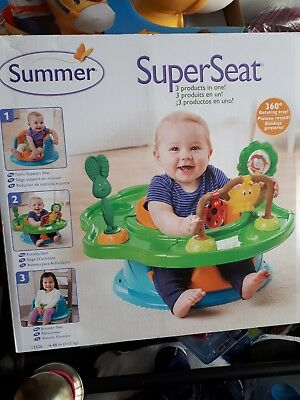 Summer Infant 3 Stage Super bumbo Seat Forest Friends - NEW