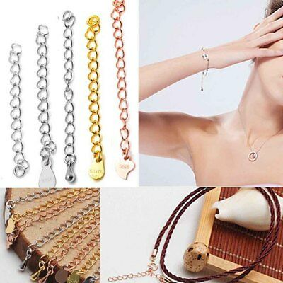 DIY Link Chain 925 Sterling Silver for Bracelet Necklace Anklet Extension Chain