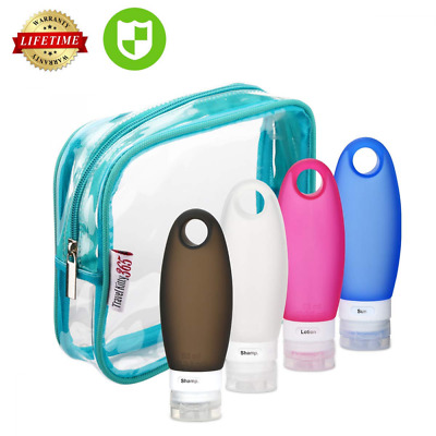 Travel bottles Leakproof Silicone Refillable bottle Set, TSA Approved containers