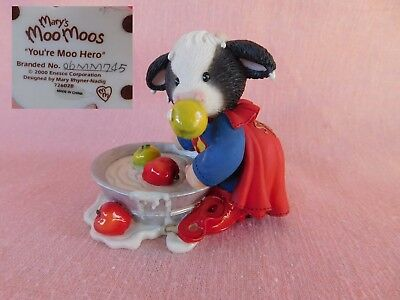 "Enesco Mary's Moo Moos ""YOU'RE MOO HERO"" 726028"