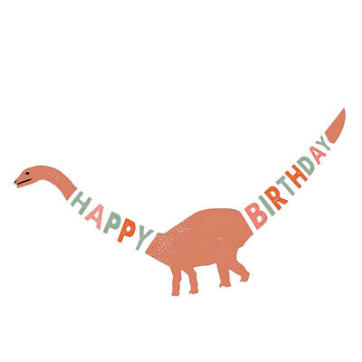 Lovely Dinosaur Theme Birthday Party Paper Banner for Kids Party Decor