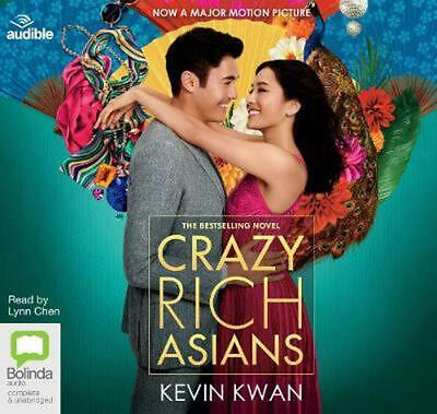 Crazy Rich Asians by Kevin Kwan Compact Disc Book Free Shipping!