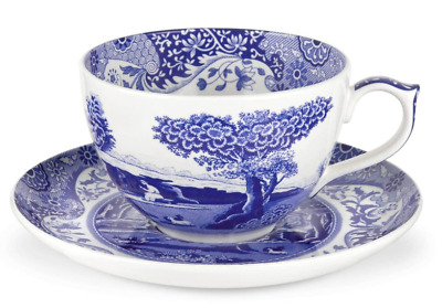 Spode Blue Italian 20 oz. Jumbo Cup and Saucer
