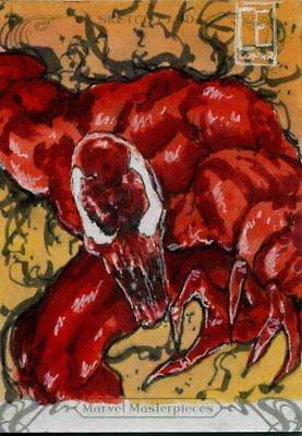 Upper Deck Marvel Masterpieces 2018 Sketch Card By Carlos Cunha Carnage