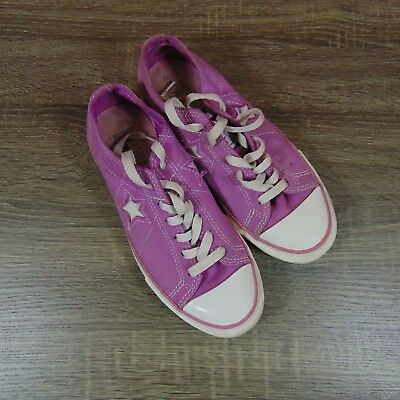 Converse one star womens low top sneakers size 6.5 M purple cut out star