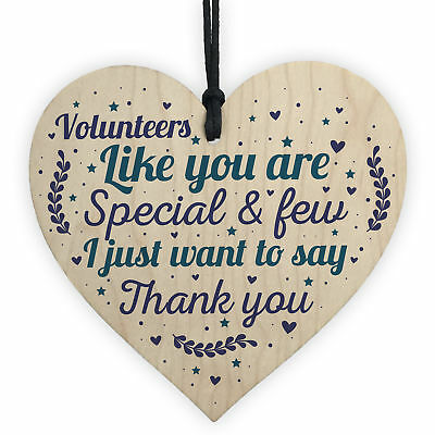 Volunteer Thank You Gift Wood Hanging Heart Gift For Colleagues Leaving Present