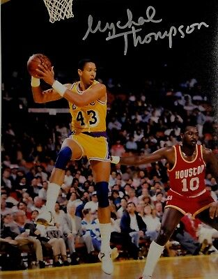 ce724091 Mychal Thompson Hand Signed Autographed 8x10 Photo Los Angeles Lakers  Showtime