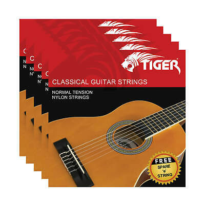 Tiger Pack of 5  Classical Guitar String Sets