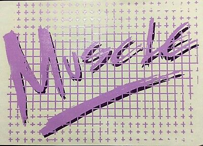 "Original ""Muscle"" Purple Iron On Transfer"