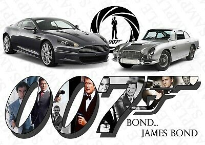 James Bond Poster 007 Movie Photo Picture Print ONLY Wall Art A4
