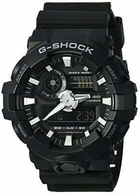 Casio Men's 'G SHOCK' Quartz Resin Casual Watch, Color:Black (Model:GA-700-1BCR)