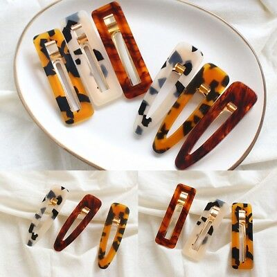 Women Vintage Leopard Hair Clip Hairband Comb Bobby Pin Barrette Hairpin Access