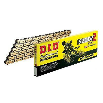 DID 520 DZ2GB x 120 DZ Professional Motocross Motorcycle Gold Drive Chain