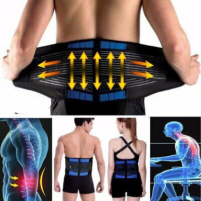 Medical Heat Waist Belt Brace For Lower Back Pain Relief Therapy Support Hot HT