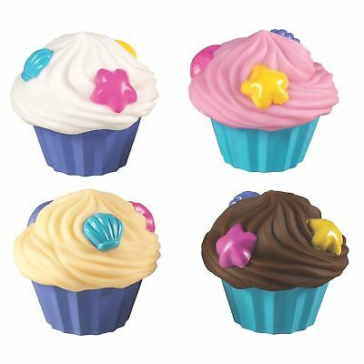 Munchkin 4 CUP CAKE SQUIRTS Baby/Toddler Bathing Bath Time Toy/Gift Fun BN