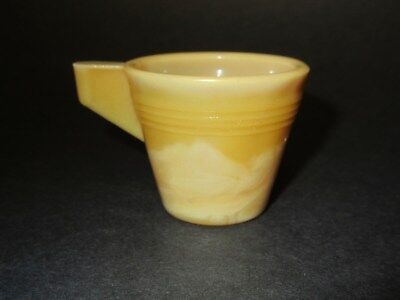 Rare Akro Agate Chiquita Mustard Yellow Child's Cup / Carnival Colors Set / VHTF