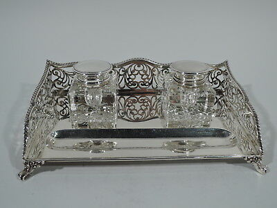Graff, Washbourne & Dunn Inkwell - 955 - Antique - American Sterling Silver