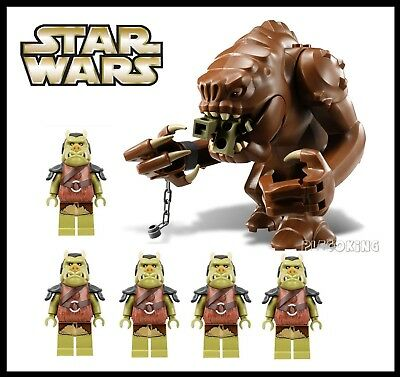 STAR WARS - JABBAS PET RANCOR + x 5 GAMORREAN GUARDS - fits lego figure