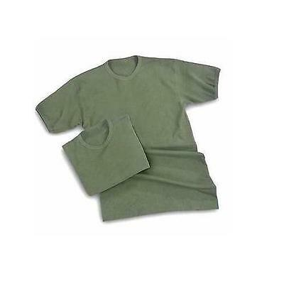 Army Cotton T Shirt Olive Green Heavy Weight Military Issue PT Vest Tshirt ~ New