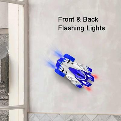 Electric RC Car Rechargeable Wall Climber Dual Mode 360°Rotating Stunt LED Light