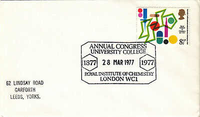 (20202) CLEARANCE GB Cover Royal Institute Chemistry London WC1 28 March 1977