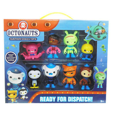 8PC Octonauts Expedition Action Figure Kid Childrens Toy Doll Gift Collection