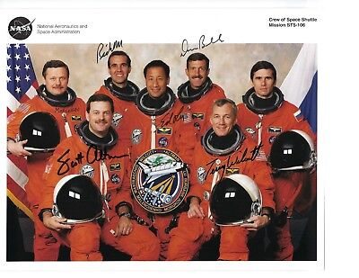 Space Shuttle STS-106 Atlantis Crew Signed
