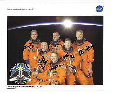 Space Shuttle STS-132 Atlantis Crew Hand Signed