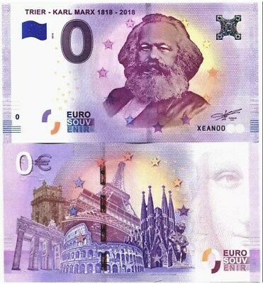 KARL MARX - 0 EURO BANKNOTE KARL MARX TRIER NM  Free Shipping and tracking