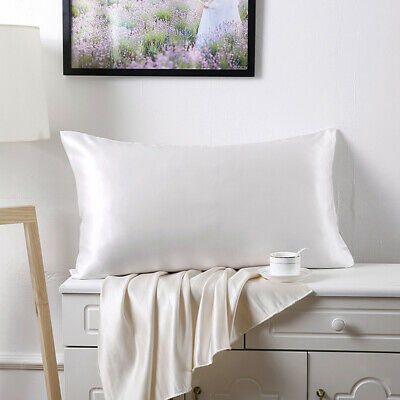 Mulberry Silk Pillowcase Both Sides Pillow Case Cover with Zipper Standard