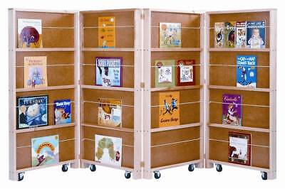 Jonti Craft Mobile Library Bookcase W 4 Sections ID 9119