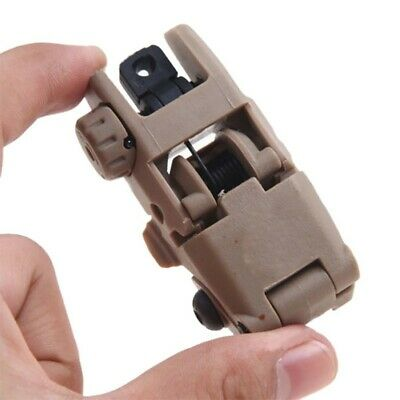 US Tactical Folding AR Front Rear Flip Up Backup Sights BUIS MBUS Set 223 5.5