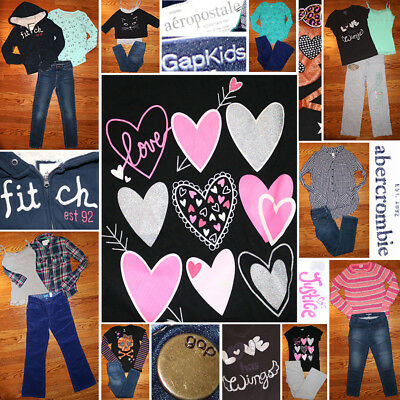Girls Size 10/12 Fall/Winter Clothing Lot, Jeans, Sweater, Hoodie, EUC, NWT!