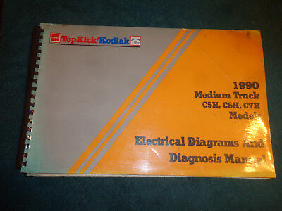 1990 chevrolet / gmc medium duty truck wiring shop manual / orig electrical  book
