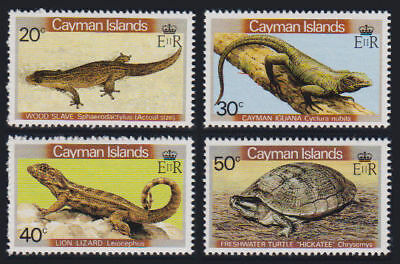 Cayman Is. - 1981 Reptiles Set. Sc. #467-70, SG #530-3. Mint NH