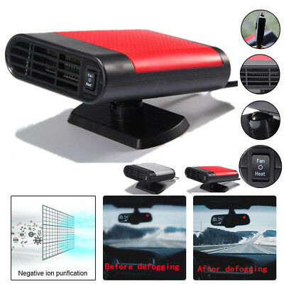 200W Car Auto Heater Cooler Dryer Demister Defroster 2 in 1Hot Warm Fan For Car