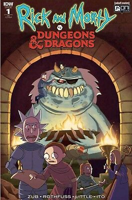 Rick And Morty Vs Dungeons & Dragons #1 Dungeon Masters Hb Variant Pre Sale 8/28