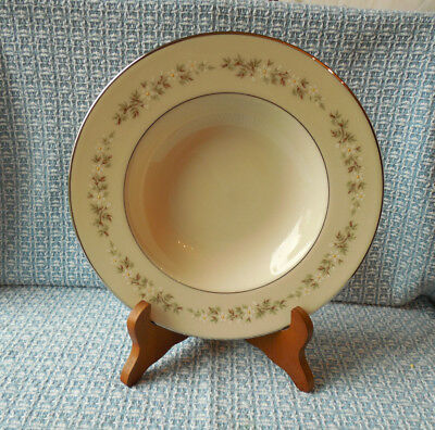 Lenox Brookdale RIMMED SOUP BOWL made in USA Daisies Platinum dinnerware