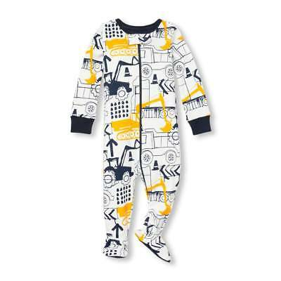 NWT The Childrens Place Boys Trucks Footed Stretchie Pajamas Sleeper 2T 3T  4T 5T 96a1c1550