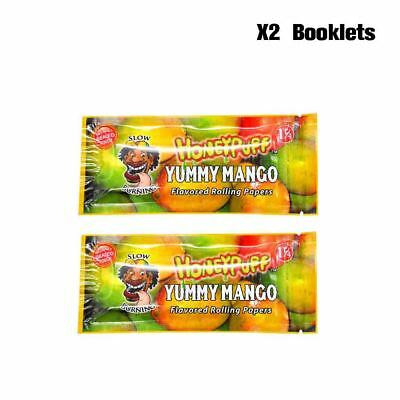 2 Booklets YUMMY MANGO Flavored HONEYPUFF Rolling Papers Slow Burning
