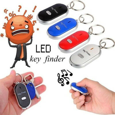 Wireless Metal Whistle Keyring Tracker Locator Key Lost Receiver Alarm Keychain