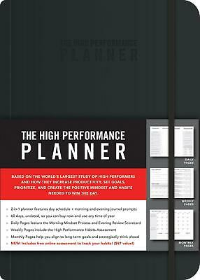 The High Performance Planner by Brendon Burchard Paperback Book Free Shipping!