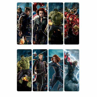 8pcs The Avengers Transparent Waterproof Bookmarks Reading Book Mark
