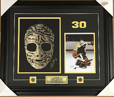 GERRY CHEEVERS - custom framed signed 11 x 14 photo The Mask
