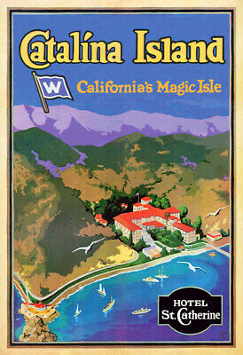 Catalina Island: Hotel St. Catherine - 1930's Advertising Poster