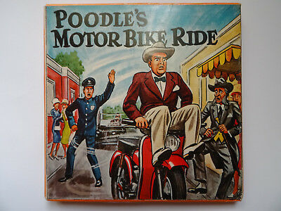 "Super 8mm b/w sound 1x200'' ""POODLE'S MOTOR BIKE"" Old time comedy Original Box"